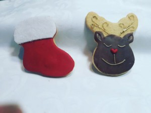 Christmas stocking and reindeer
