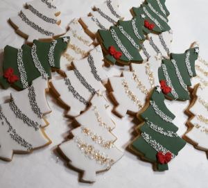Christmas tree biscuits 300