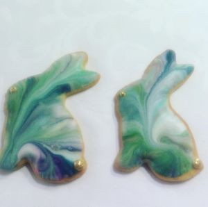 Easter biscuits - marbled bunnies C
