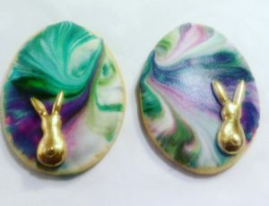 Easter biscuits - Marbled eggs A