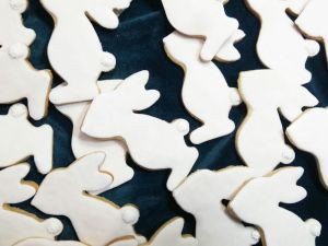 Easter biscuits - bunny B