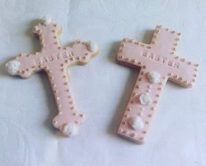 Easter biscuits - crosses