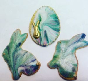 Easter biscuits - marbled bunnies B
