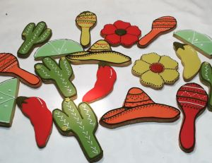 Festival themed Bridal Shower biscuits 300