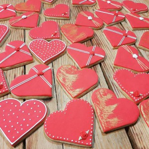 Homemade biscuits Hearts A 500