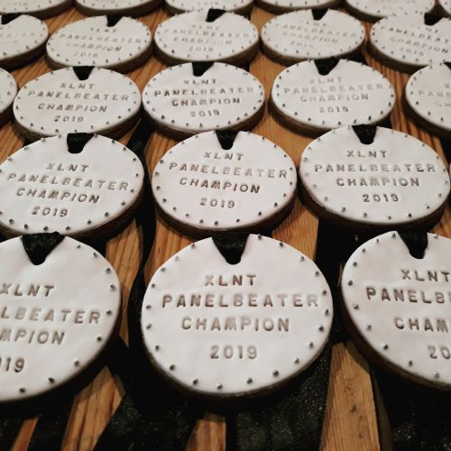Medal award biscuits-cookies for Xlnt panel Beaters 500