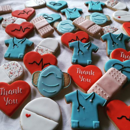 Thank you biscuits for doctors and nurses