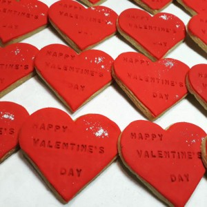 Valentines Day biscuits E 500